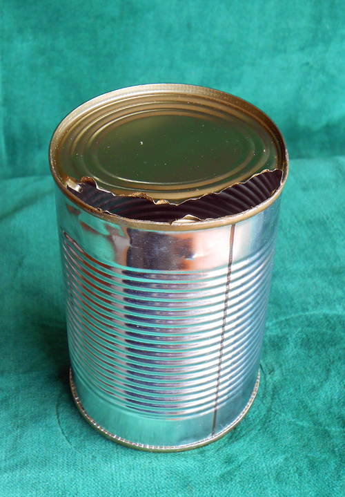 Ragged edges of can